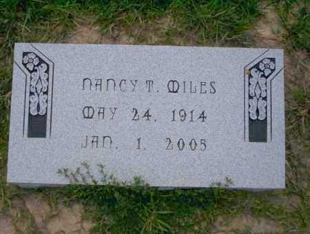 MILES, NANCY T - Union County, Arkansas | NANCY T MILES - Arkansas Gravestone Photos