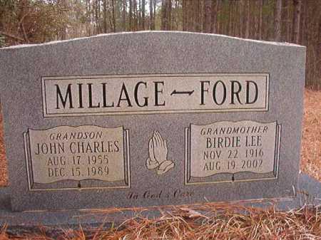 MILLAGE, JOHN CHARLES - Union County, Arkansas   JOHN CHARLES MILLAGE - Arkansas Gravestone Photos