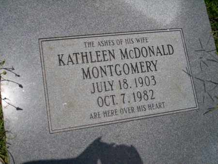 MCDONALD MONTGOMERY, KATHLEEN - Union County, Arkansas | KATHLEEN MCDONALD MONTGOMERY - Arkansas Gravestone Photos