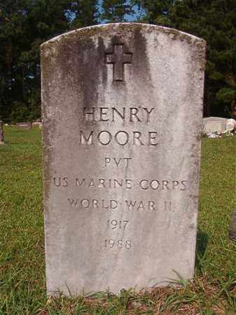 MOORE (VETERAN WWII), HENRY - Union County, Arkansas | HENRY MOORE (VETERAN WWII) - Arkansas Gravestone Photos