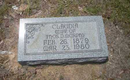 MURPHY, CLAUDIA - Union County, Arkansas | CLAUDIA MURPHY - Arkansas Gravestone Photos