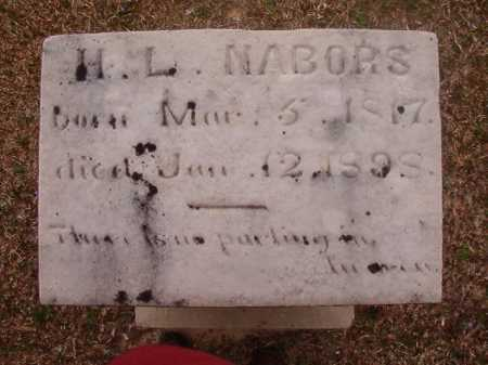NABORS, H L - Union County, Arkansas   H L NABORS - Arkansas Gravestone Photos