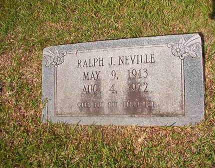 NEVILLE, RALPH J - Union County, Arkansas | RALPH J NEVILLE - Arkansas Gravestone Photos