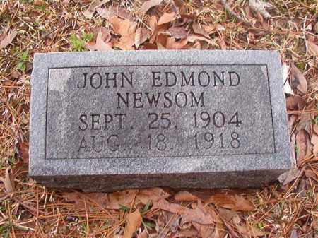 NEWSOM, JOHN EDMOND - Union County, Arkansas   JOHN EDMOND NEWSOM - Arkansas Gravestone Photos