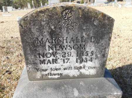 NEWSOM, MARSHALL D - Union County, Arkansas   MARSHALL D NEWSOM - Arkansas Gravestone Photos