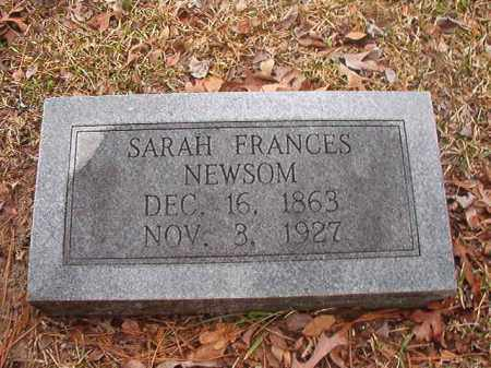 NEWSOM, SARAH FRANCES - Union County, Arkansas | SARAH FRANCES NEWSOM - Arkansas Gravestone Photos
