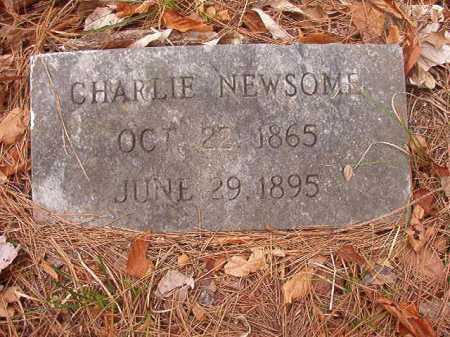 NEWSOME, CHARLIE - Union County, Arkansas   CHARLIE NEWSOME - Arkansas Gravestone Photos