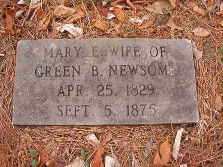 NEWSOME, MARY E - Union County, Arkansas | MARY E NEWSOME - Arkansas Gravestone Photos