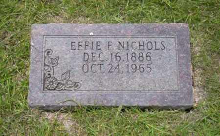 NICHOLS, EFFIE F. - Union County, Arkansas | EFFIE F. NICHOLS - Arkansas Gravestone Photos