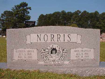 NORRIS, JOHN FRANKLIN - Union County, Arkansas | JOHN FRANKLIN NORRIS - Arkansas Gravestone Photos