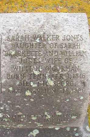 O'GORMAN, SARAH WALKER - Union County, Arkansas | SARAH WALKER O'GORMAN - Arkansas Gravestone Photos
