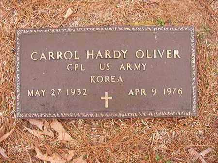 OLIVER (VETERAN KOR), CARROL HARDY - Union County, Arkansas | CARROL HARDY OLIVER (VETERAN KOR) - Arkansas Gravestone Photos