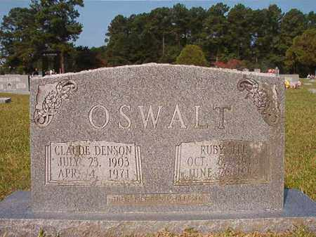 OSWALT, CLAUDE DENSON - Union County, Arkansas | CLAUDE DENSON OSWALT - Arkansas Gravestone Photos
