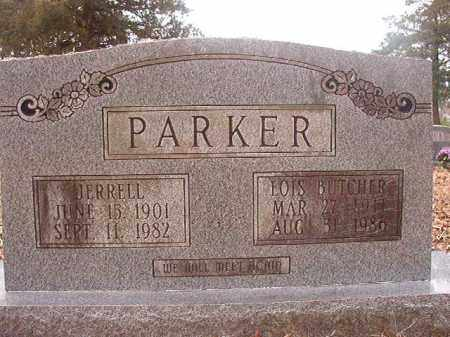 BUTCHER PARKER, LOIS - Union County, Arkansas   LOIS BUTCHER PARKER - Arkansas Gravestone Photos