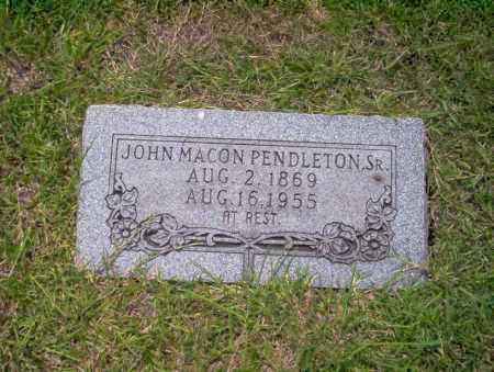 PENDLETON, JOHN MACON - Union County, Arkansas | JOHN MACON PENDLETON - Arkansas Gravestone Photos