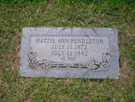 PENDLETON, MATTIE ANN - Union County, Arkansas | MATTIE ANN PENDLETON - Arkansas Gravestone Photos