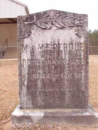PERDUE, M E - Union County, Arkansas   M E PERDUE - Arkansas Gravestone Photos