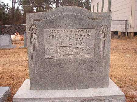 OWEN PERDUE, MARTHA E - Union County, Arkansas | MARTHA E OWEN PERDUE - Arkansas Gravestone Photos