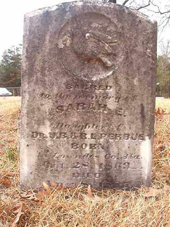 PERDUE, SARAH E - Union County, Arkansas | SARAH E PERDUE - Arkansas Gravestone Photos