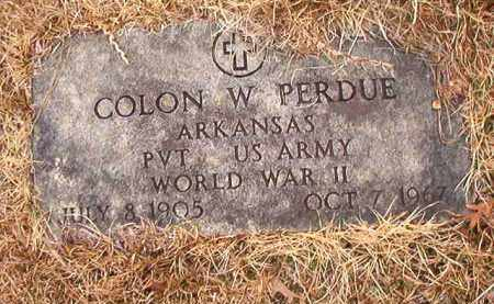 PERDUE (VETERAN WWII), COLON W - Union County, Arkansas   COLON W PERDUE (VETERAN WWII) - Arkansas Gravestone Photos