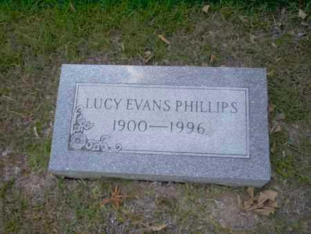 EVANS PHILLIPS, LUCY - Union County, Arkansas | LUCY EVANS PHILLIPS - Arkansas Gravestone Photos