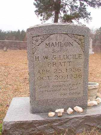 PRATT, MAHLON - Union County, Arkansas | MAHLON PRATT - Arkansas Gravestone Photos