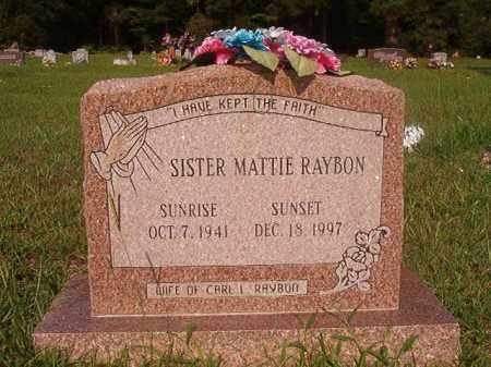 RAYBON, MATTIE - Union County, Arkansas | MATTIE RAYBON - Arkansas Gravestone Photos