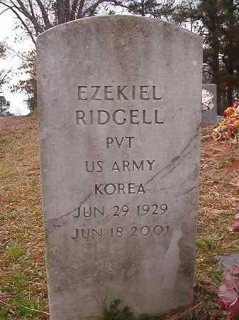 RIDGELL (VETERAN KOR), EZEKIEL - Union County, Arkansas   EZEKIEL RIDGELL (VETERAN KOR) - Arkansas Gravestone Photos