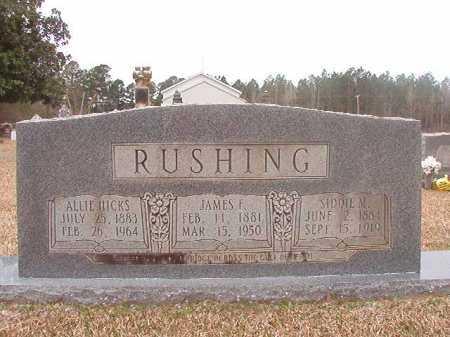 RUSHING, JAMES F - Union County, Arkansas | JAMES F RUSHING - Arkansas Gravestone Photos
