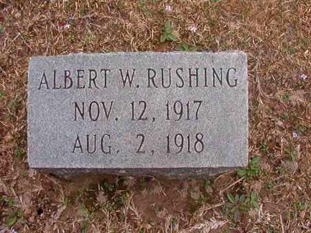 RUSHING, ALBERT W - Union County, Arkansas | ALBERT W RUSHING - Arkansas Gravestone Photos