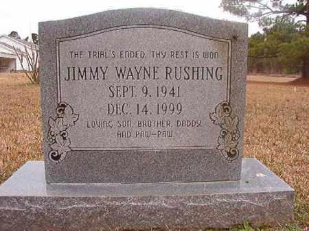 RUSHING, JIMMY WAYNE - Union County, Arkansas | JIMMY WAYNE RUSHING - Arkansas Gravestone Photos