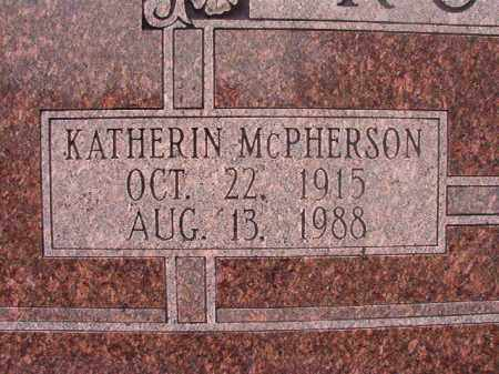MCPHERSON RUSHING, KATHERIN - Union County, Arkansas | KATHERIN MCPHERSON RUSHING - Arkansas Gravestone Photos