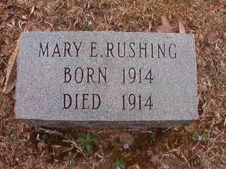 RUSHING, MARY E - Union County, Arkansas | MARY E RUSHING - Arkansas Gravestone Photos