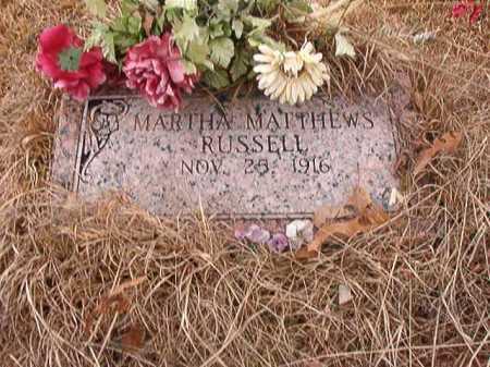 RUSSELL, MARTHA - Union County, Arkansas | MARTHA RUSSELL - Arkansas Gravestone Photos