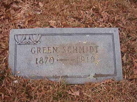 SCHMIDT, GREEN - Union County, Arkansas | GREEN SCHMIDT - Arkansas Gravestone Photos