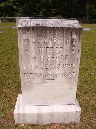 SHARP, ELIZABETH - Union County, Arkansas | ELIZABETH SHARP - Arkansas Gravestone Photos