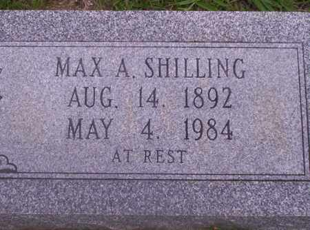 SHILLING, MAX A - Union County, Arkansas   MAX A SHILLING - Arkansas Gravestone Photos