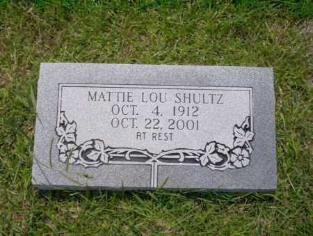 SHULTZ, MATTIE LOU - Union County, Arkansas | MATTIE LOU SHULTZ - Arkansas Gravestone Photos