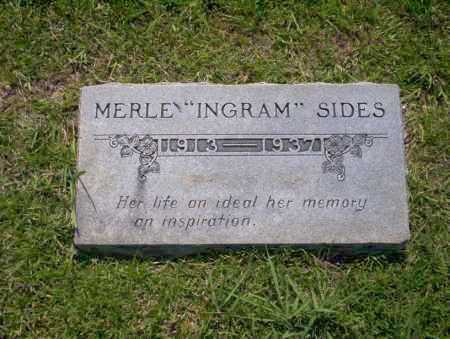 "SIDES, MERLE ""INGRAM"" - Union County, Arkansas | MERLE ""INGRAM"" SIDES - Arkansas Gravestone Photos"