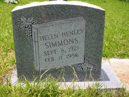 HENLEY SIMMONS, HELEN - Union County, Arkansas | HELEN HENLEY SIMMONS - Arkansas Gravestone Photos