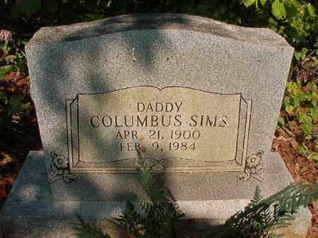 SIMS, COLUMBUS - Union County, Arkansas | COLUMBUS SIMS - Arkansas Gravestone Photos