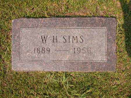 SIMS, W H - Union County, Arkansas   W H SIMS - Arkansas Gravestone Photos
