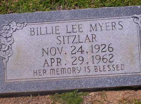 SITZLAR, BILLIE LEE - Union County, Arkansas | BILLIE LEE SITZLAR - Arkansas Gravestone Photos