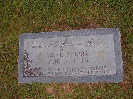 JONES SLATER, ANNIE E - Union County, Arkansas | ANNIE E JONES SLATER - Arkansas Gravestone Photos