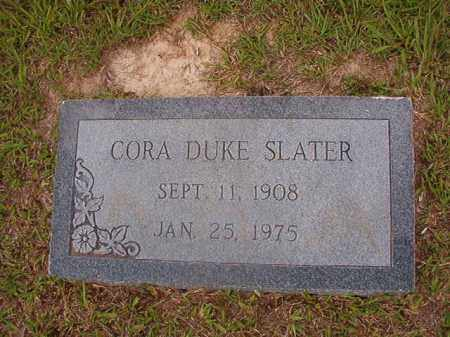 DUKE SLATER, CORA - Union County, Arkansas   CORA DUKE SLATER - Arkansas Gravestone Photos