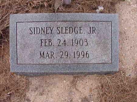 SLEDGE, JR, SIDNEY - Union County, Arkansas | SIDNEY SLEDGE, JR - Arkansas Gravestone Photos