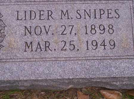 SNIPES, LIDER M - Union County, Arkansas | LIDER M SNIPES - Arkansas Gravestone Photos