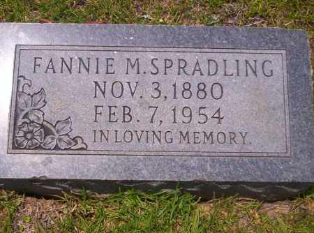 SPRADLING, FANNIE M - Union County, Arkansas | FANNIE M SPRADLING - Arkansas Gravestone Photos