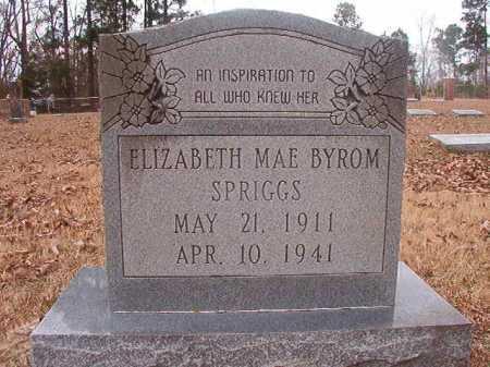 SPRIGGS, ELIZABETH MAE - Union County, Arkansas   ELIZABETH MAE SPRIGGS - Arkansas Gravestone Photos