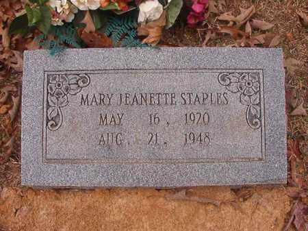 STAPLES, MARY JEANETTE - Union County, Arkansas | MARY JEANETTE STAPLES - Arkansas Gravestone Photos
